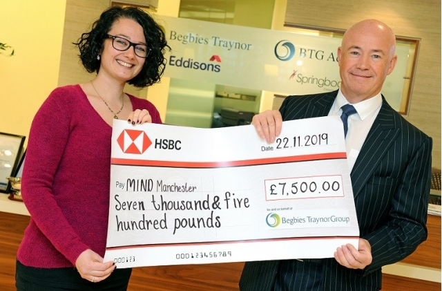 Begbies Traynor donates £7,500 to Manchester Mind