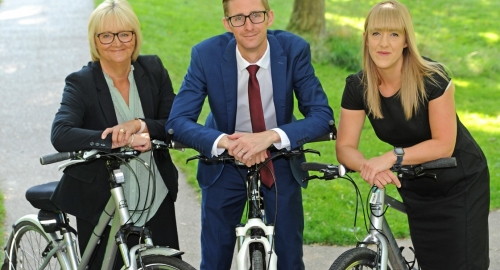 Begbies Traynor team gears up for 45-mile bike ride in aid of Lancashire Women's charity