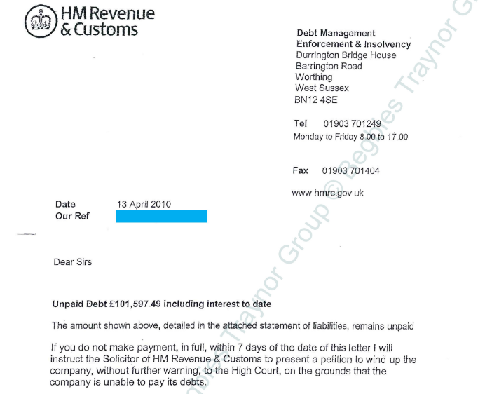 Hmrc unpaid debt and 7 day winding up threat begbies tray - Hm revenue and customs office address ...
